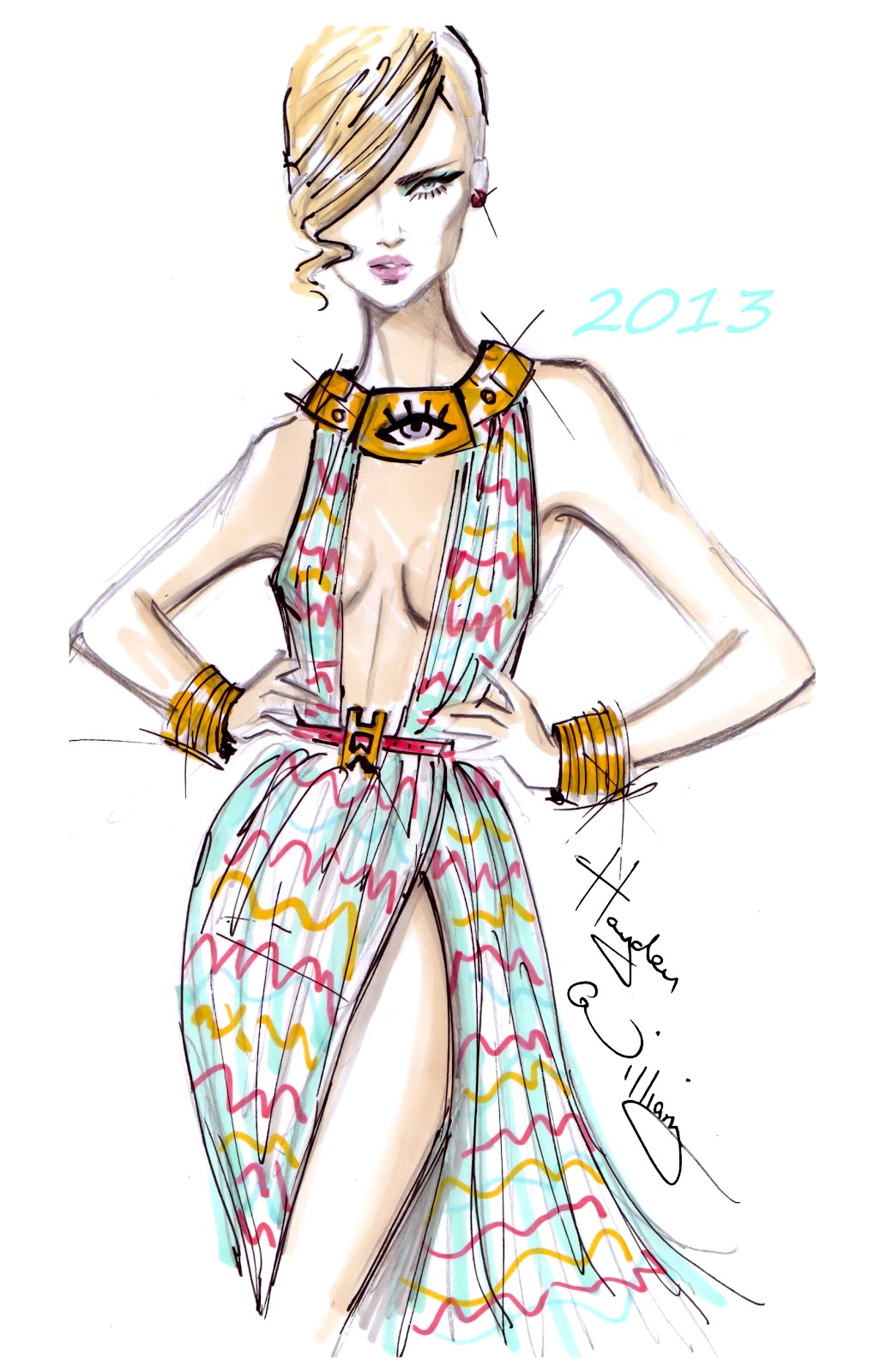Fashion design color pencils 59